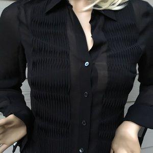Bcbgmaxazria black blouse size 10